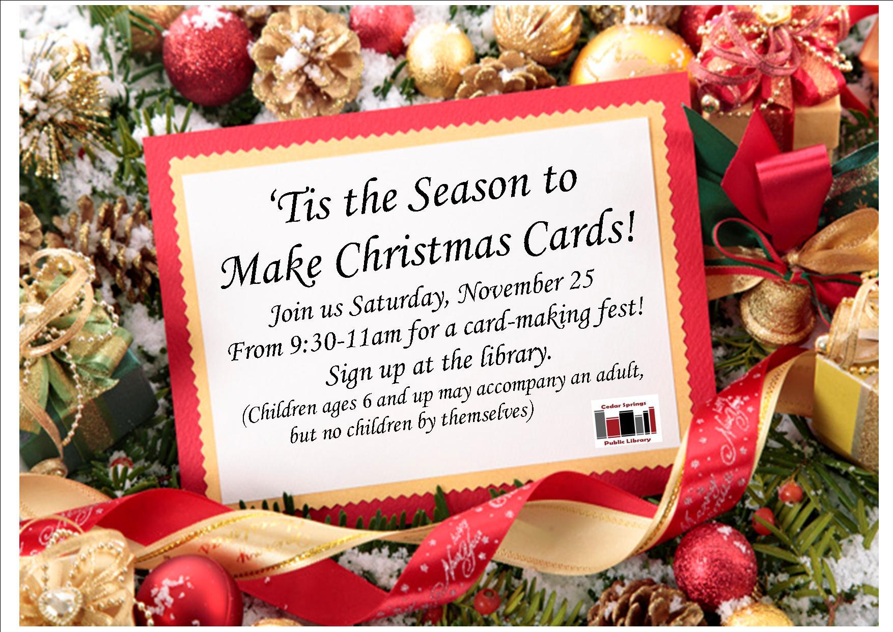 christmas card making flyer