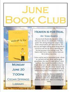 June Book Club @ Cedar Springs Public Library | Cedar Springs | Michigan | United States