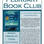 Adult Book Club, February 20, 2017