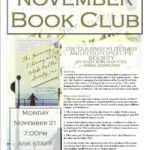Adult Book Club, November 21, 7 pm