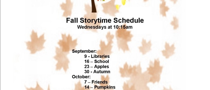 Fall 2015 Storytime