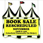 BOOK SALE RESCHEDULED without time