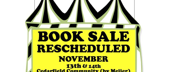 Book Sale Rescheduled