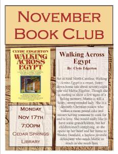 November 2014 Book Club @ 43 W Cherry St Cedar Springs, MI 49319