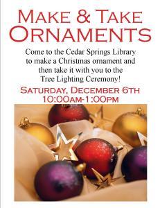 Make & Take Ornaments