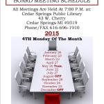Board Meeting Sign 2015