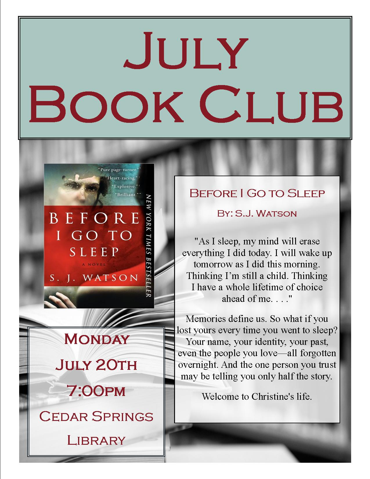 winterville adult book club meeting