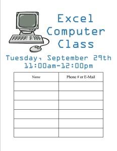 Computer Class-Excel