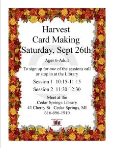 Harvest Card Making2015