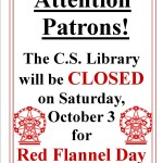 Closed Red Flannel Day