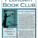 February 2016 Book Club Join us on February 15th at 7 pm