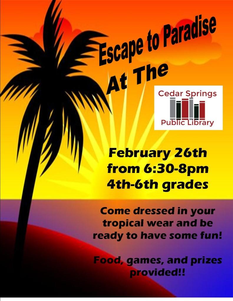 paradise party flyer