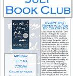 July 2016 Book Club