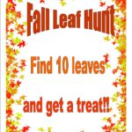Kids the fun is not over yet! Come into the library and go on a leaf hunt!!