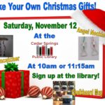 Make your own Christmas gifts for your loved ones!! Young children will need to be accompanied by an adult.