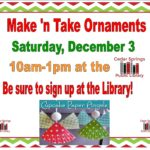 Make n' Take Ornaments