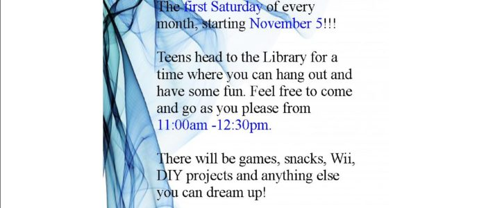 Teen Day is officially here! Come and hang out with your friends to have a good time!!