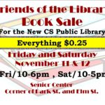 Friends of the Library Book Sale November 11th & 12th