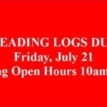 Last Day to turn in your Reading Log