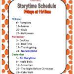 October-December Storytime Schedule
