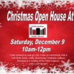 Christmas Open House Dec 9th 10am -12pm