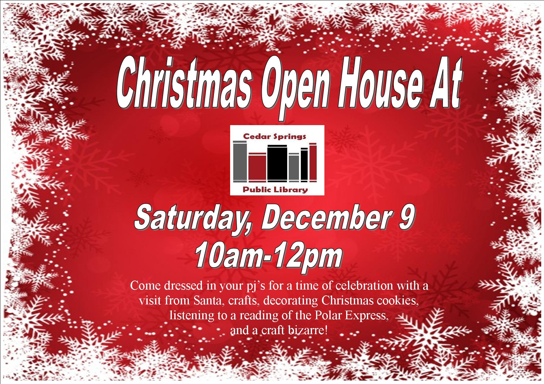 Christmas Open House- Visit Santa/Craft Bazaar!