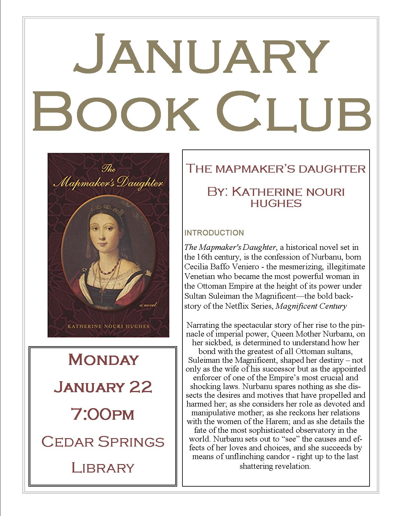 January Book Club - A Mapmaker's Daughter