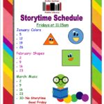 Story Time Schedule: January – March