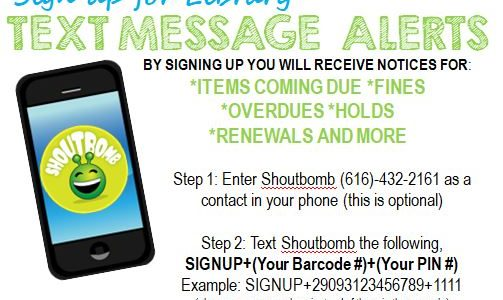 Text Message Alerts – Sign up today!