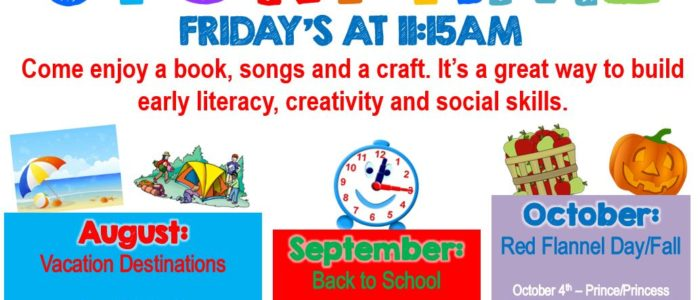 FAMILY STORYTIME – FRIDAYS AT 11:15AM