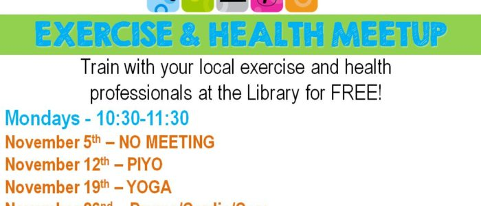 Health & Exercise Meetup – Monday's @10:30