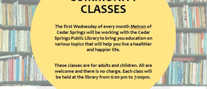 Library/Metron Monthly Health-Related Programs