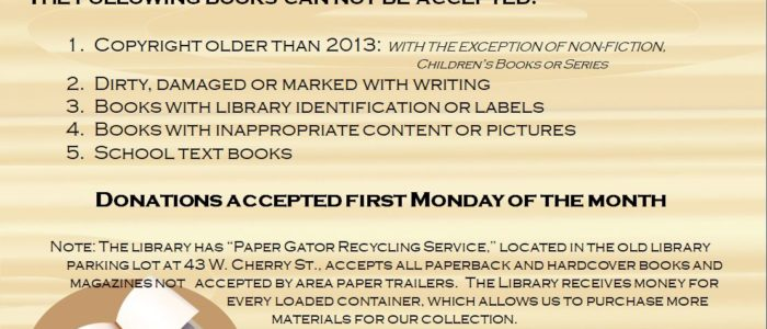 Book Donation Guidelines