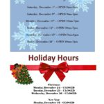 Holiday Hours & BONUS Holiday Hours