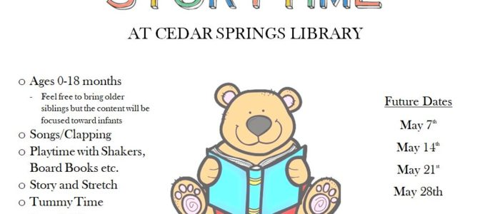 BABY STORYTIME – TUESDAYS AT 10:30AM