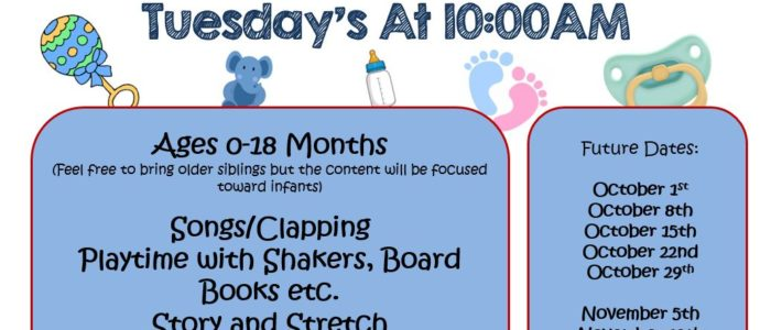 BABY STORYTIME – TUESDAYS AT 10:00AM