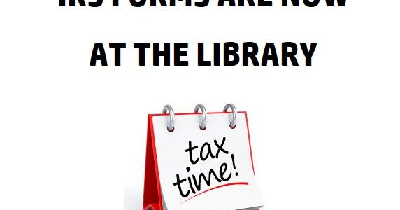 IRS Forms Are Now Available At The Library
