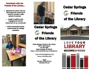 April 2019 friends of the library brochure
