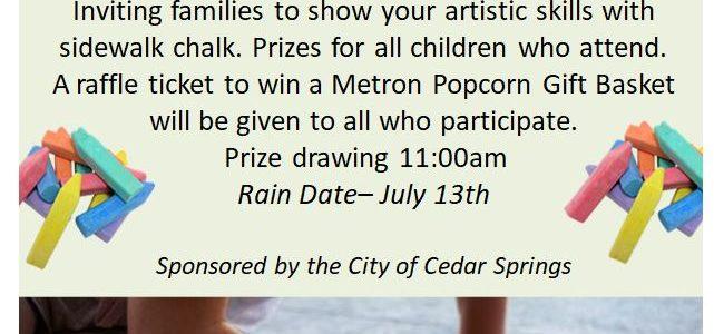 Sidewalk Chalk: Summer Reading Program Family Event
