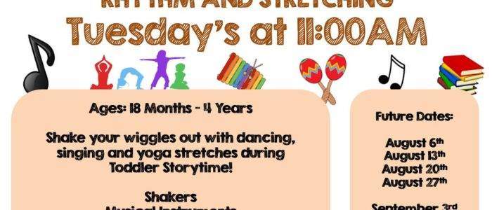 TODDLER STORYTIME – TUESDAYS AT 11:00AM