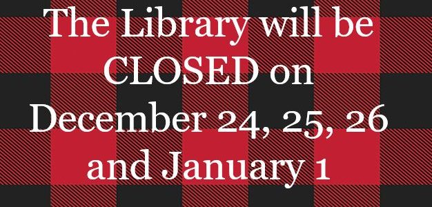 Holiday Season CLOSINGS