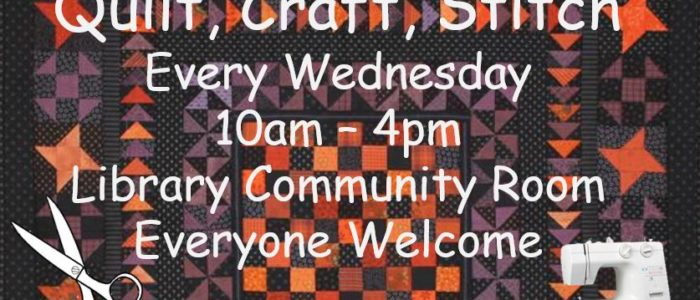 Quilt, Craft, Stitch – NEW Adult Program