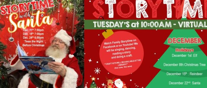 Virtual Family Storytime/Santa Storytime