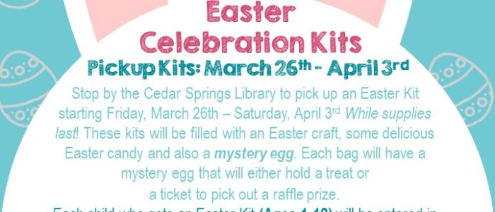 Easter Celebration Kits: Ages 1-12; Check out the Easter GRAND PRIZES