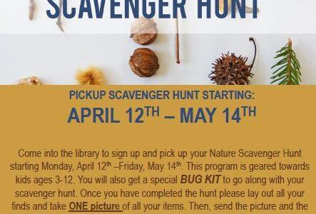 Nature Scavenger Hunt: Ages 3-12