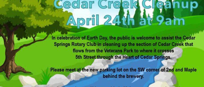 Cedar Creek Cleanup