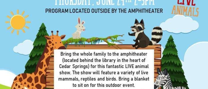 Animal Tales/LIVE Animals – Summer Reading Program