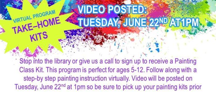 Painting Class Kits – Summer Reading Program