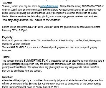 Photography Challenge – Summer Reading Program