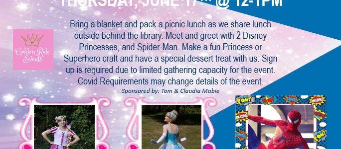Picnic with Princesses & Superhero – Summer Reading Program